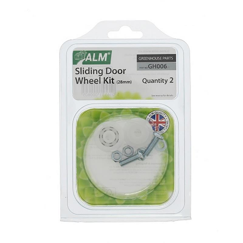 ALM Greenhouse Sliding Door Replacement Nylon Plastic Wheel Kit 28mm GH006