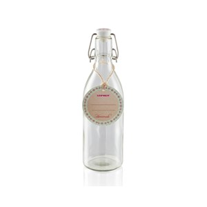 Leifheit 500ml Glass Bottles With Clip Top Fastening Seal