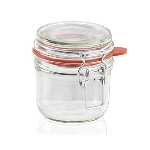 Leifheit 255ml Glass Jar With Clip Top Fastening Seal