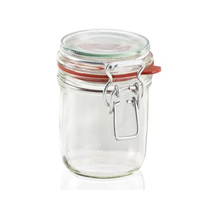 Leifheit 370ml Glass Jar With Clip Top Fastening Seal
