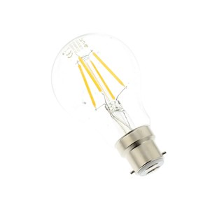 LED GLS Filament Lamp BC B22 6W 400 Lumen Warm Light 2700K