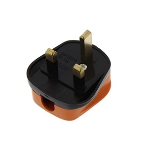 13 Amp 230V UK 3 Pin Heavy Duty Orange Heavy Duty Rewireable Plug