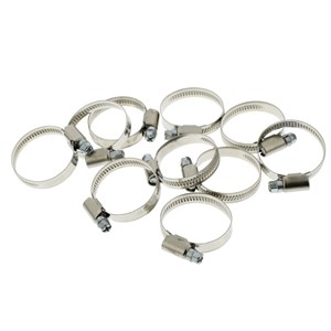 Universal Hose Band Jubilee Clip 25mm - 40mm Pack of 10