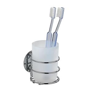 Wenko Turbo Loc Tooth Brush Holder Chrome Finish
