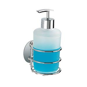 Wenko Turbo Loc Liquid Soap Dispenser Chrome Finish
