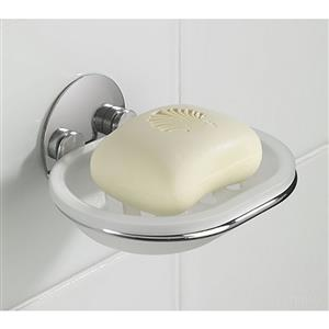 Wenko Turbo Loc Bar Soap Tray Chrome Finish