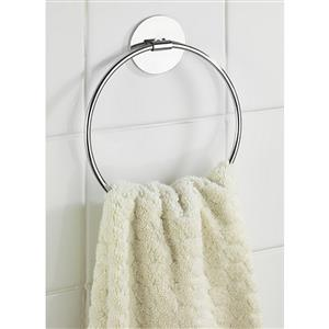 Wenko Turbo Loc Towel Ring Chrome Finish