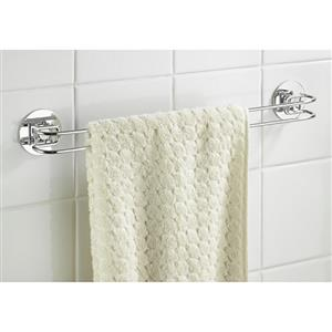 Wenko Turbo Loc Shower Towel Rail Chrome Finish