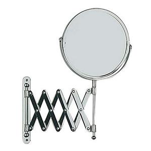 Wenko Wall Mount Telescopic Cosmetic Mirror Chrome Finish