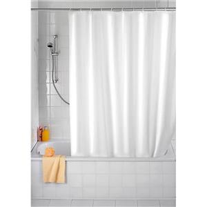 Wenko White Shower Curtain 180 x 200 cm