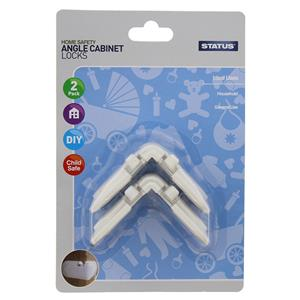 Angle Cabinet Locks Pack of 2