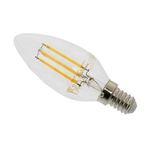 LED Candle Filament Lamp SES E14 4W 400 Lumen Warm Light 2700K Dimmable