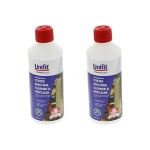 Unifit Professional Coffee Machine Cleaner Descaler 500ml Pack Of 2