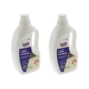 Unifit Professional Carpet & Upholstery Shampoo 1 Litre Pack Of 2