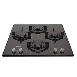 Hotpoint DD642PHBK Gas On Glass Hob 60cm
