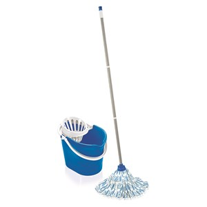 Leifheit Blue Classic Mop and Bucket Set