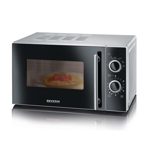 Severin MW7862 Stainless Steel and Black Microwave 700W 20 Litre