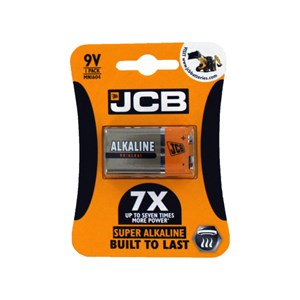 JCB Super Alkaline 9V Battery 10 Packs Of 1