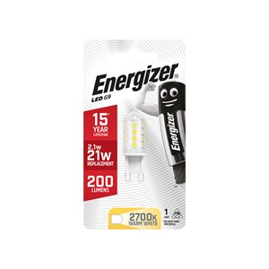 ENERGIZER LED G9 Capsule Lamp 2.3W 200 Lumen Warm Light 2700K